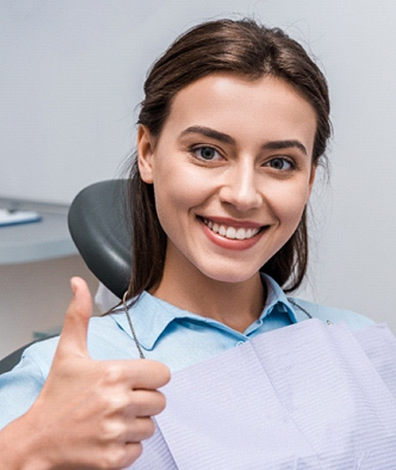 thumbs up for dental implants
